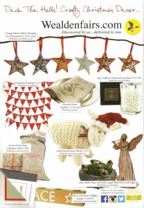 Wealden Times November 2015 features Christmas Bunting
