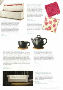 Listed Heritage Magazine features Rufus pink and Polly floral Cushions