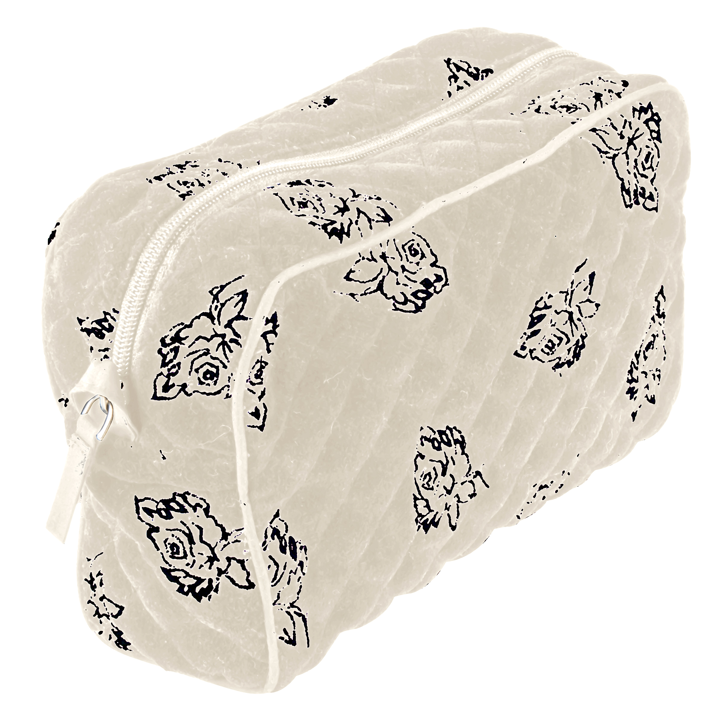harriet velvet wash bag ivory