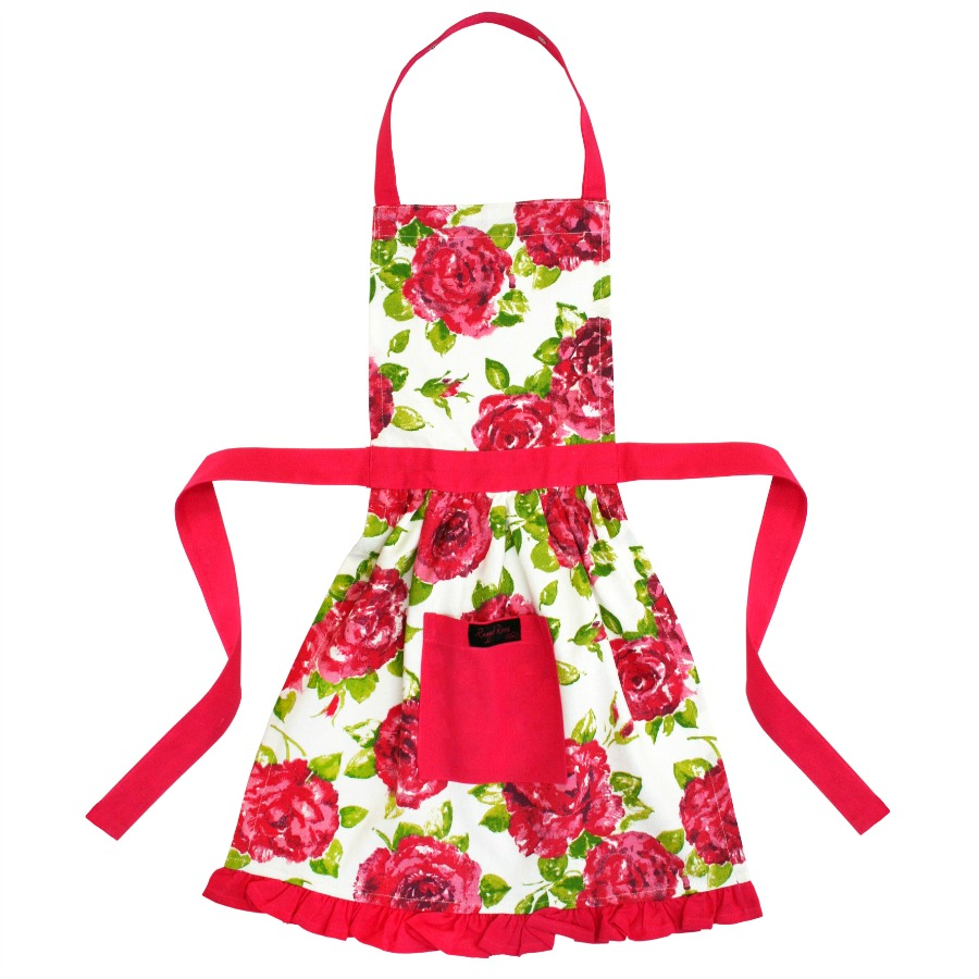 Girls Frilly Apron Pink