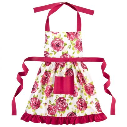 Pink Rose Frilly Apron