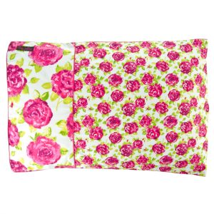 Double Duvet Set Pink and White Roses