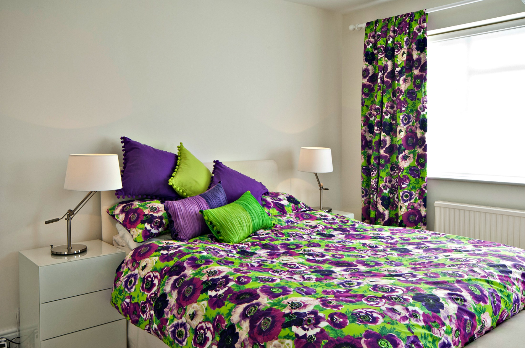Dulcie purple anemones duvet set