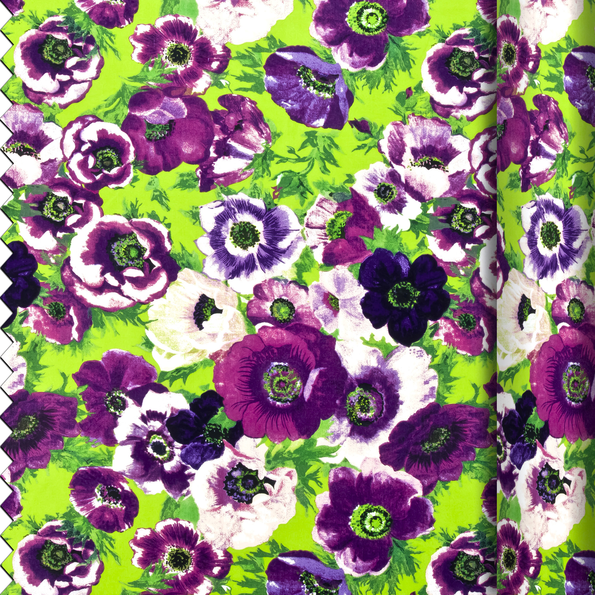 fabric purple anemones
