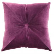 Ragged Rose : Velvet Mulberry cushion
