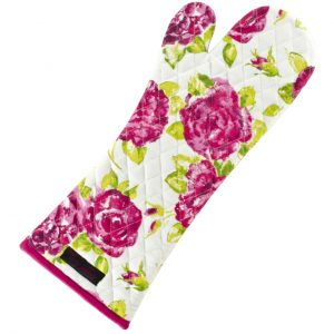 Ragged Rose White Arga Oven Glove