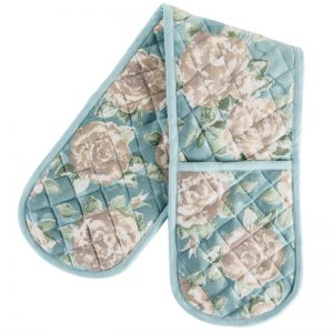 Ragged Rose Duck Egg Double Oven Glove