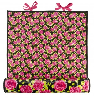 Ragged Rose Picnic Mat Black