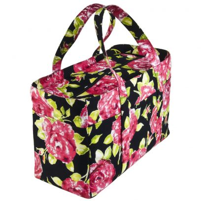 Tasha Tote Bag Black Rose