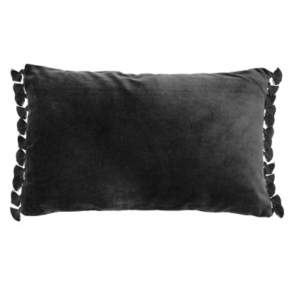 Terry Black velvet tassel cushion
