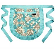 Tilly Duck Egg Blue Vintage Half Apron