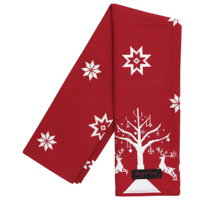 Ragged Rose Tracy Christmas Rendeer Tea Towel Red