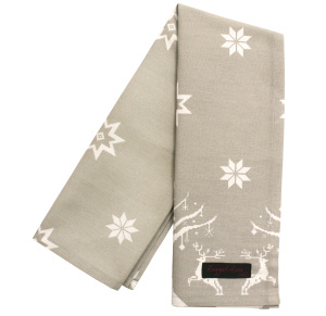 xmas Tracy taupe tea towel