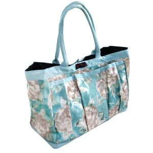 trudy pvc trug bag duck egg