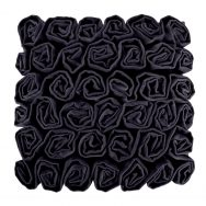 Rufus Ruffle Rose Cushion Black