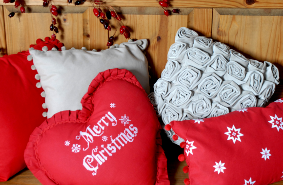 Christmas Cushions Ragged Rose