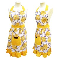 Yellow Mustard Frilly Apron