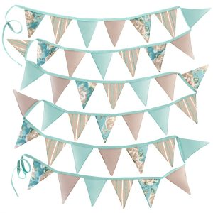 Garden Bunting Duckegg Blue Ragged Rose Prints