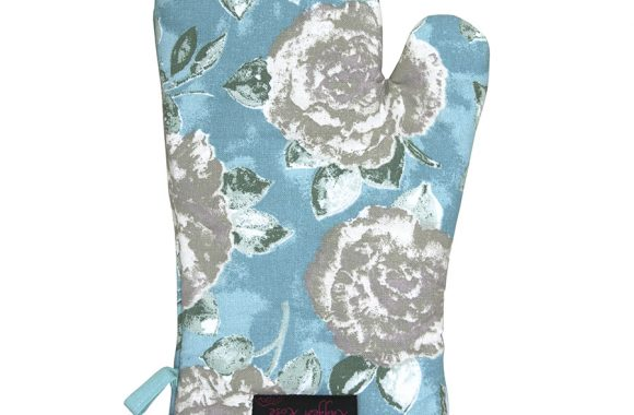 Fliss Duck Egg Frilly Oven Glove
