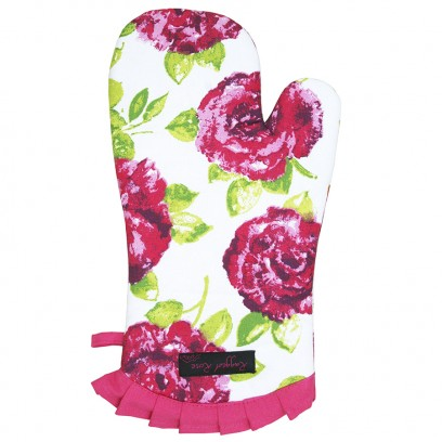 Fliss Frilly Oven Glove Pink Rose