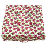 Jess Floor Cushion White Pink Rose