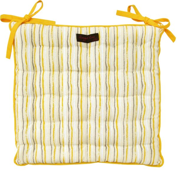 Golden Stripe Seat Pad Cushion