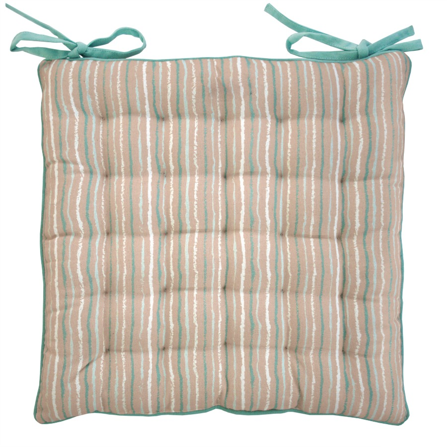 paddy duck egg blue stripe seat pad cushion. Black Bedroom Furniture Sets. Home Design Ideas