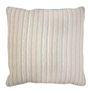 Duck Egg blue Stripe cushion