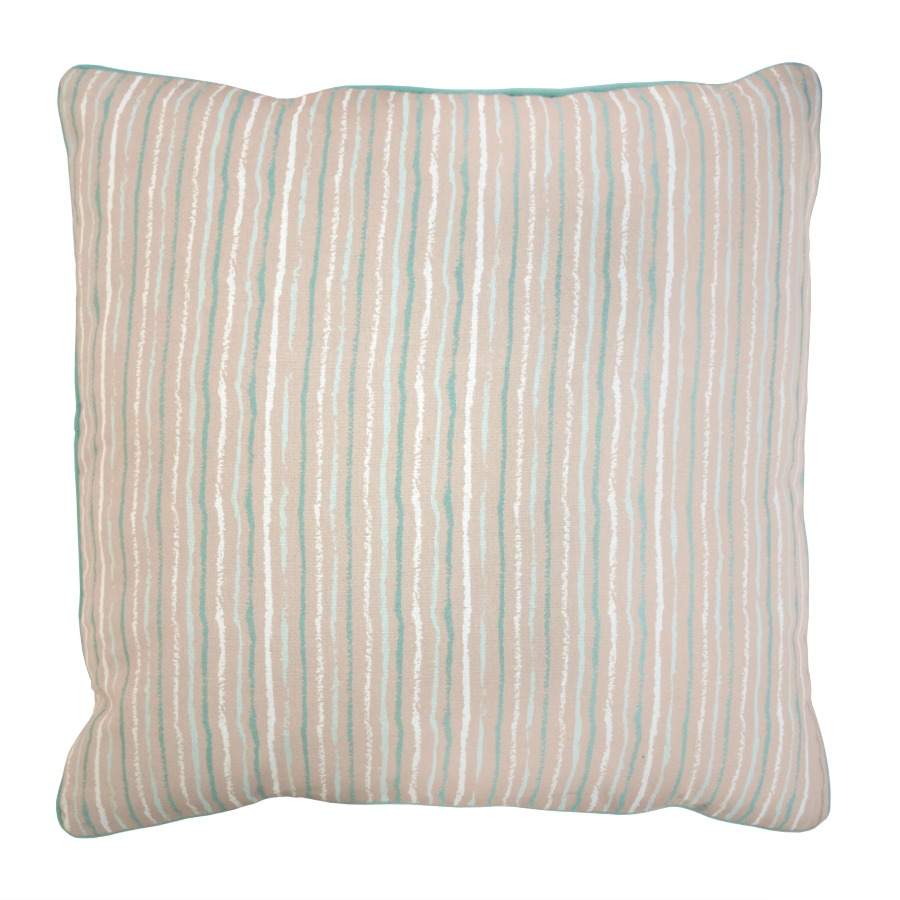 polly duck egg blue stripe cushion ragged rose. Black Bedroom Furniture Sets. Home Design Ideas