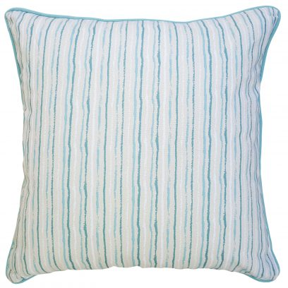 Polly Cushion Duck Egg Stripe