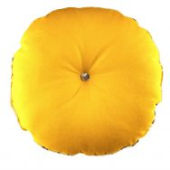 gold round cushion