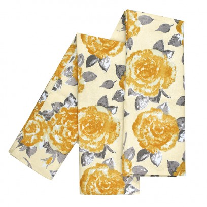 gold rose tea towels