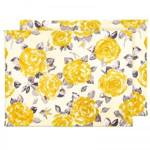Myla Placemats Golden Yellow Rose