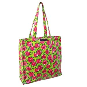 Lime PVC Shopper Bag