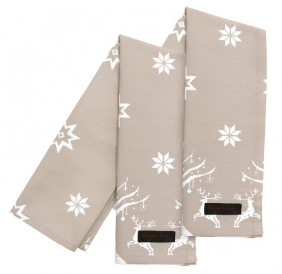 taupe christmas tea towels