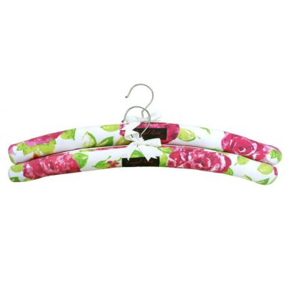 pink floral padded hangers