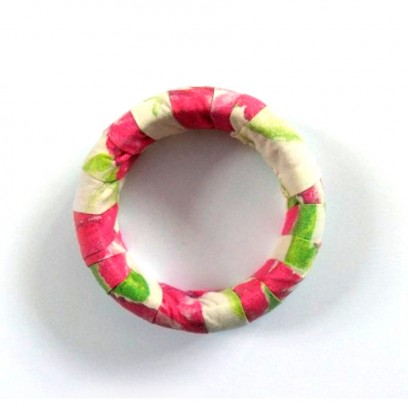 Large Bonita Bangle White