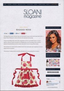 Sloan magazine apron ragged rose