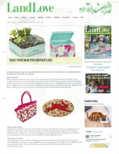 Land Love March 2016 Trudy Trug Bag Ragged Rose