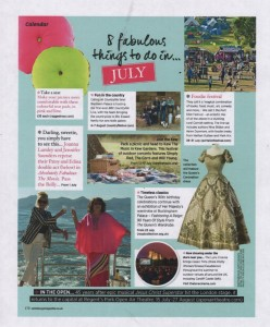 Sainsbury's Magazine July 2016 Rolly Cushions Ragged Rose
