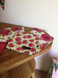 Ragged Rose flower napkins