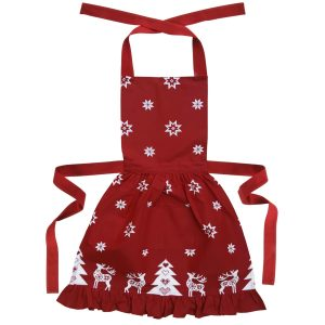 Retro Style Red Christmas Apron