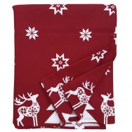 Red Christmas Star Tablecloth