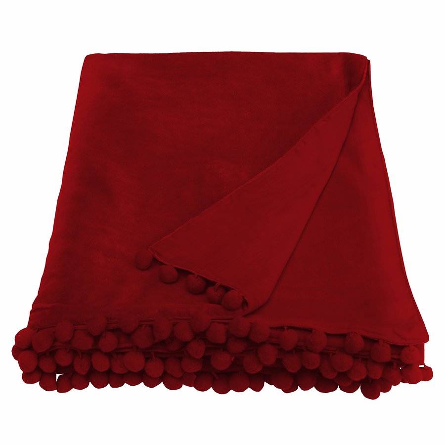 red velvet throw