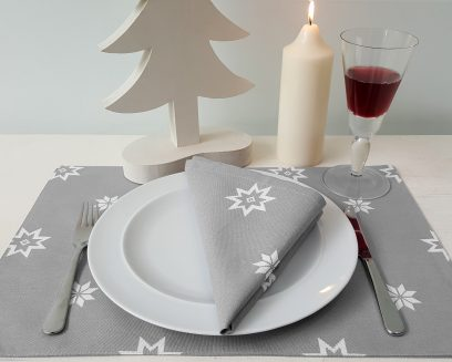 christmas silver grey placemat