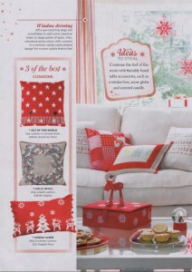 good homes october 2016 christmas red cushion ragged rose