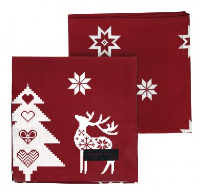 Christmas Red Natalie Napkins (Pack of 4)