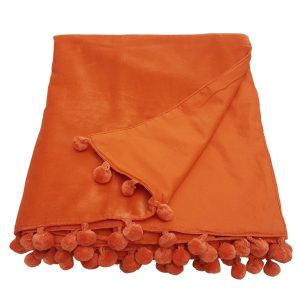 orange velvet throw