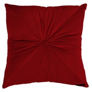 Fiona Velvet Cushion Red