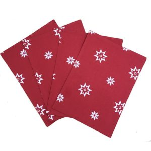 christmas red placemat